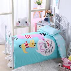 纯棉活性大版拎包款幼儿园套件 鳄鱼父子 均码 加厚棉花款六件套(床垫套60*120)