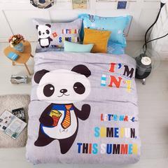 儿童大版三件套 熊猫天使 1.2M-1.35M床 熊猫天使