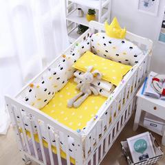 宝宝婴儿皇冠床围套件 婴儿床多件套 床围 被子 床垫  皇冠 均码 皇冠套餐A