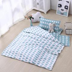 宝宝婴儿皇冠床围套件 婴儿床多件套 床围 被子 床垫  企鹅 均码 企鹅套餐C