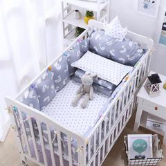 宝宝婴儿皇冠床围套件 婴儿床多件套 床围 被子 床垫 小天鹅 均码 小天鹅套餐G