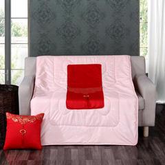 汉唐风抱枕被 多色可选 枕套40X40cm被子110*150cm 大红色