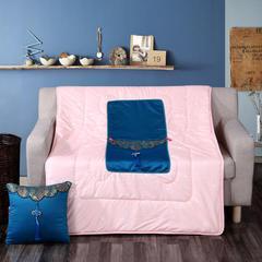汉唐风抱枕被 多色可选 枕套40X40cm被子110*150cm 湖蓝色
