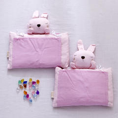 婴儿定型米壳枕系列 小兔子-红