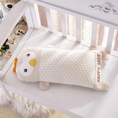 2017秋冬新款婴童彩棉枕系列 针织提花彩棉卡通儿童枕(25*50cm) 吉祥鸡