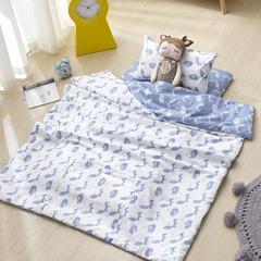 宝宝婴儿皇冠床围套件 婴儿床多件套 床围 被子 床垫 蓝灵狐 均码 套餐B