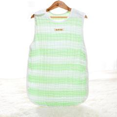 2018新款6层纱布彩条睡袋 绿色40*60cm