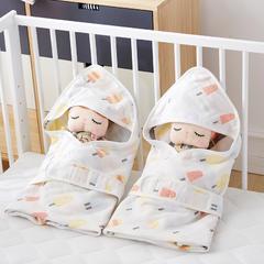 2018新款6层纱布提花婴儿抱被 1.0m(3.3英尺)床 棒棒-橘黄