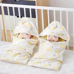 2018新款6层纱布提花婴儿抱被 1.0m(3.3英尺)床 香梨-米黄
