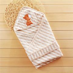 2018新款彩棉婴幼儿抱被印花系列 1.0m(3.3英尺)床 条纹色