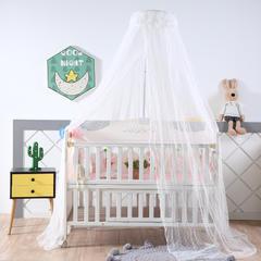 2018新款可调节宫廷豪华婴儿床蚊帐 高度2米周长6米 白色
