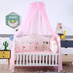2018新款可调节宫廷豪华婴儿床蚊帐 高度2米周长6米 粉色