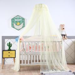 2018新款可调节宫廷豪华婴儿床蚊帐 高度2米周长6米 米黄色
