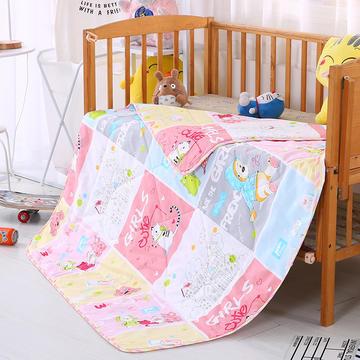 婴幼童夏被13372全棉包边  快乐童年