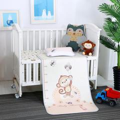 婴幼童冰丝凉席大版    加厚粗丝    小猴子