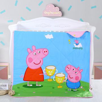小猪佩奇  大版花型包边款 儿童全棉夏被