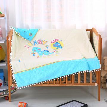 恐龙宝贝   13372全棉绒球带边大版婴幼童夏被