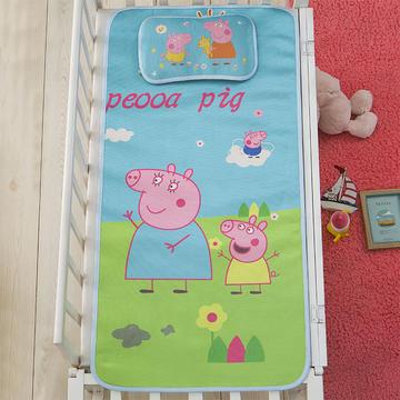 大版数码印花冰丝童席   小猪佩奇