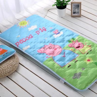 贝贝月-枕头+两用垫小猪佩奇 0.7x1.4m蓝