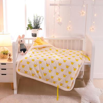 2018新生儿包被厚款被子初生婴儿宝宝包被秋冬加厚1(80*80cm) 抱被套子(80*80cm) 抱被黄