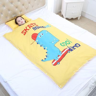 2019新款睡袋 滑板恐龙(98*150cm棉花被芯两片)