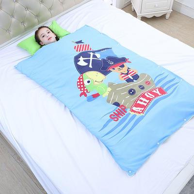 2019新款睡袋 海盜船長(98*150cm寶寶絨布兩片)