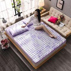 金伟垫业     提花冰丝席床垫(不含枕套) 90*200 盛世牡丹-紫