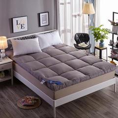 磨毛羽丝绒床垫 灰色 0.9x2米 【4斤】 灰色