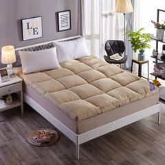 磨毛羽丝绒床垫 驼色 0.9x2米 【4斤】 驼色