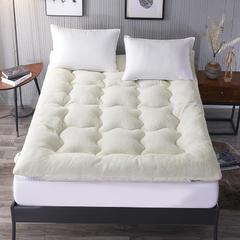 2018新款-羊羔绒羽丝绒床垫 90*200cm 白色