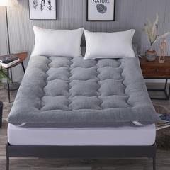 2018新款-羊羔绒羽丝绒床垫 120*200cm 灰色