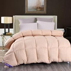 2018新款-水洗棉色织冬被 150x200cm(4斤) 黄鱼色