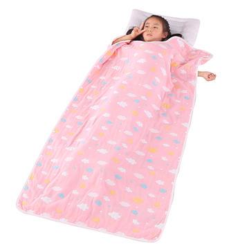 婴儿睡袋纯棉六层提花纱布睡袋儿童防踢被