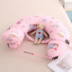 哺乳枕头多功能喂奶枕宝宝新生儿喂奶神器孕妇护腰枕靠垫抱枕 欢乐园粉