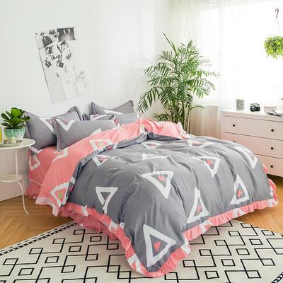 澳玛尼家纺    韩版工艺四件套 标准1.5-1.8m床 传奇人生-灰