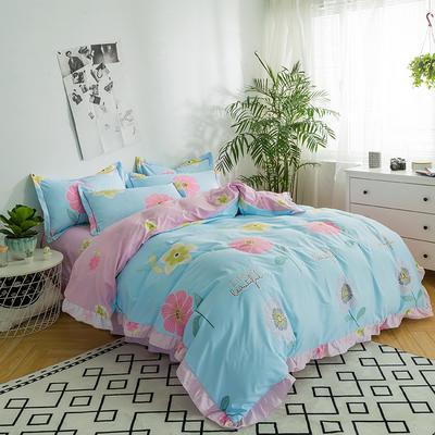 澳玛尼家纺    韩版工艺四件套 标准1.5-1.8m床 花儿朵朵