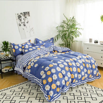 澳玛尼家纺    韩版工艺四件套 标准1.5-1.8m床 小雏菊