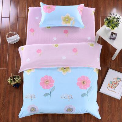澳玛尼家纺    暖绒学生三件套 1.2m床三件套 花儿朵朵