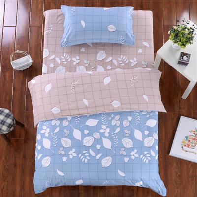 澳玛尼家纺    暖绒学生三件套 1.2m床三件套 叶恋情深