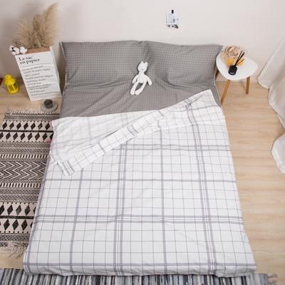 2019新款-全棉旅游隔脏睡袋 摩卡-白120x230cm