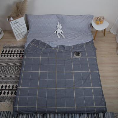 2019新款-全棉旅游隔脏睡袋 自由国度-深灰180x230cm