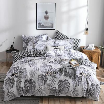 2019新款-ins风全棉学生三件套 床单款三件套0.9m床-1.2m床 荷塘月色