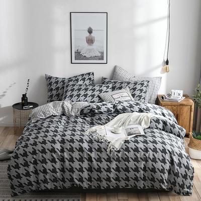 2019新款-ins风全棉学生三件套 床单款三件套0.9m床-1.2m床 灵动卓影-灰