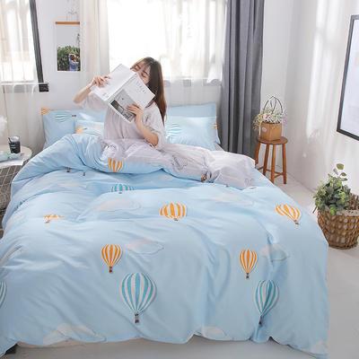 2019新款-ins风全棉学生三件套 床单款三件套0.9m床-1.2m床 梦气球