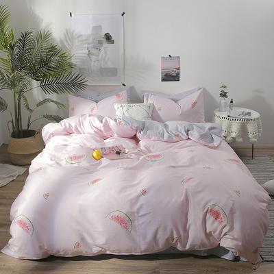 2019新款-ins风全棉学生三件套 床单款三件套0.9m床-1.2m床 清甜