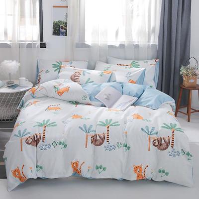 2019新款-ins风全棉学生三件套 床单款三件套0.9m床-1.2m床 热带