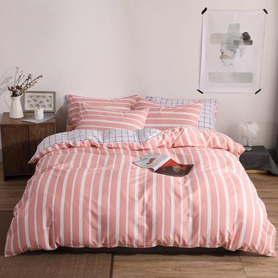 2019新款-ins风全棉学生三件套 床单款三件套0.9m床-1.2m床 悦颜-粉