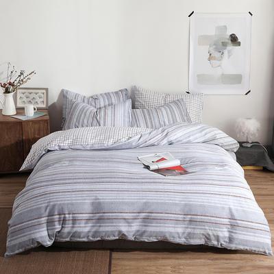 2019新款-ins风全棉学生三件套 床单款三件套0.9m床-1.2m床 韵-灰