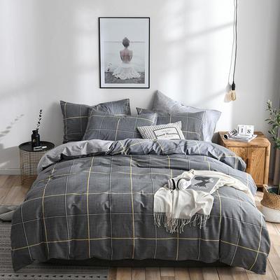 2019新款-ins风全棉学生三件套 床单款三件套0.9m床-1.2m床 自由国度