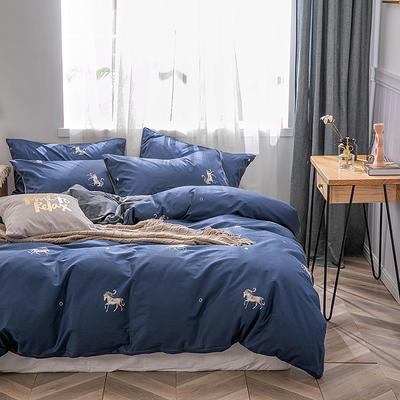 2019新款-棉加绒轻奢风泫雅风保暖四件套 床单款四件套1.5m(5英尺)床 爱玛
